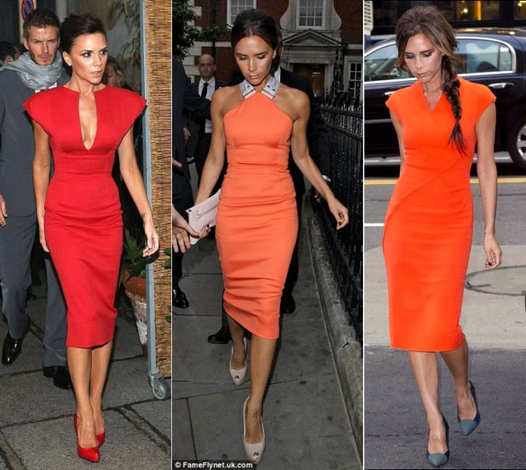 Victoria Beckham Bright Dress