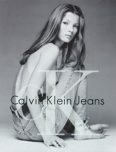 Kate Moss for Calvin Klein by Mario Sorrenti, 1993