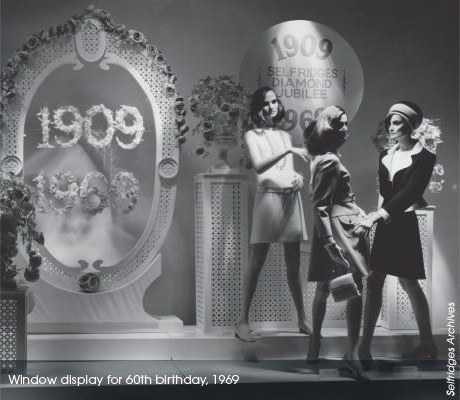 Selfridges window in 1969