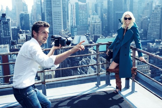 Alexi Lubomirski in his own editorial 'A Fresh Coat' with Aline Weber for Allure magazine, Oct 2013