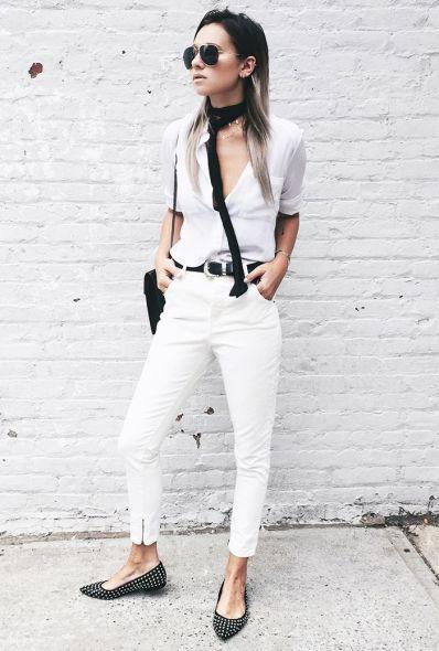 Danielle Bernstein white jeans