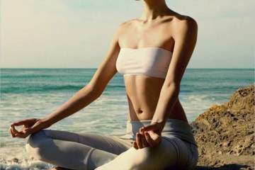 Valentina Zelyaeva Meditating for Harper's Bazaar UK August 2012