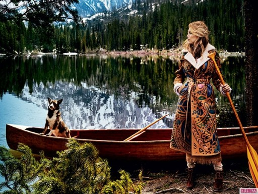 Blake Lively by Mario Testino in Jackson Hole, Vogue August 2014