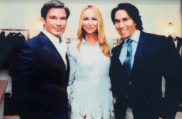 Joe and Jesse with Frida Giannini of Gucci