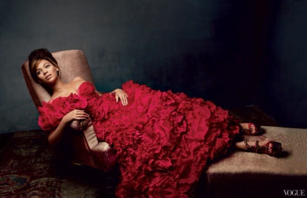 Beyonce in Oscar De La Renta