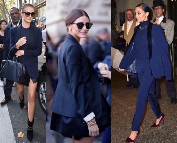 blue blazer street style