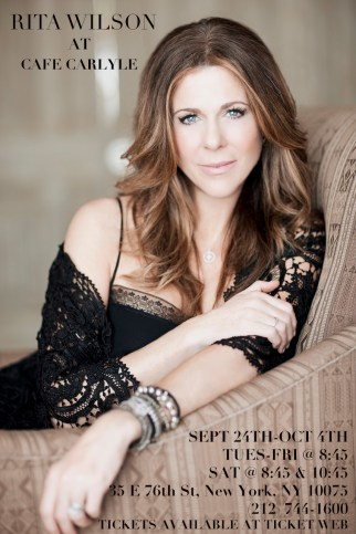 Rita Wilson at the Carlyle