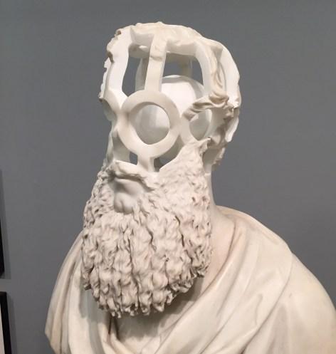 19th Century Marble Bust reinterpreted by artist Jonathan Owen