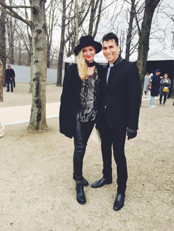 Paris Fashion Week Dairy: Lisa Marie McComb in leather leggings and Jesse Garza
