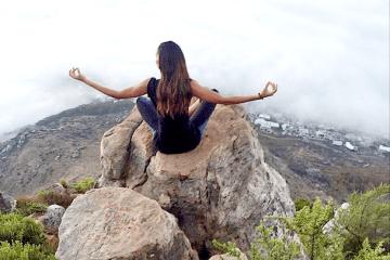 Joan smalls model meditating