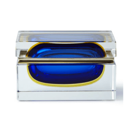 I am obsessed with this Murano glass jewelry box from Bergdorf Goodman--being such a beautiful object, it shouldn't be confined to the boudoir