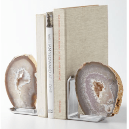 These are a perfect pair of agate bookends from Rab Labs