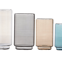 """This set of Case Rialto glass containers are perfect for a kitchen surface or dining room. They range from 9"""" in height down and I love the muted tones"""