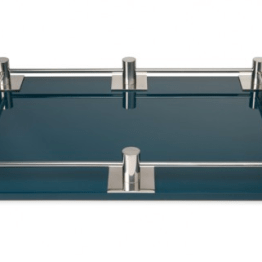 A chic tray from Steven Gambrel, the chic lacquer company