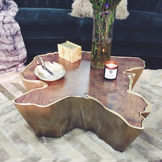 An interesting bohemian chic cocktail table