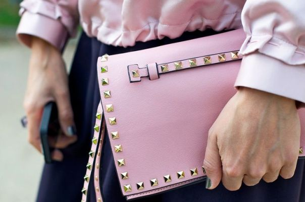 Pastel Pink Clutch Street Style