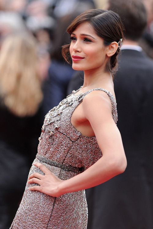Freida Pinto wearing Sanchita Ajjampur in Cannes, 2013