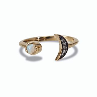 Maniamania gold 'Equinox' moon ring