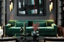 Green Interior Chic Home   VT Home
