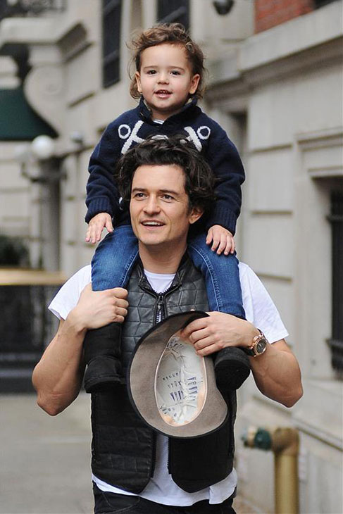 Orlando Bloom and son Flynn