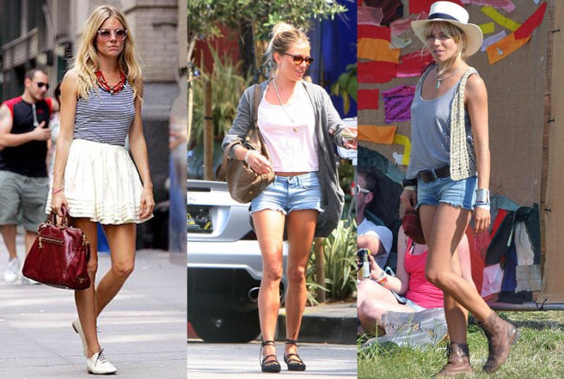 sienna miller july 4th look denim shorts