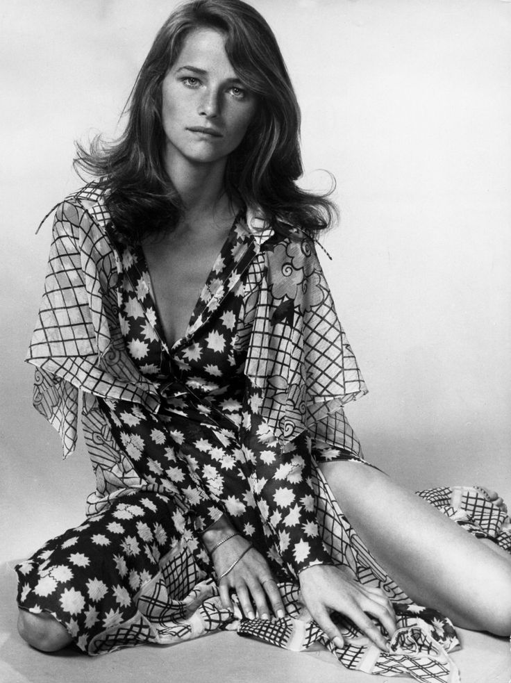 Charlotte rampling boho floral dress 1970s 1960s fashion young style