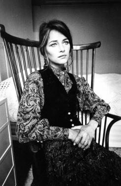Charlotte Rampling Yves Saint Laurent style 1970s