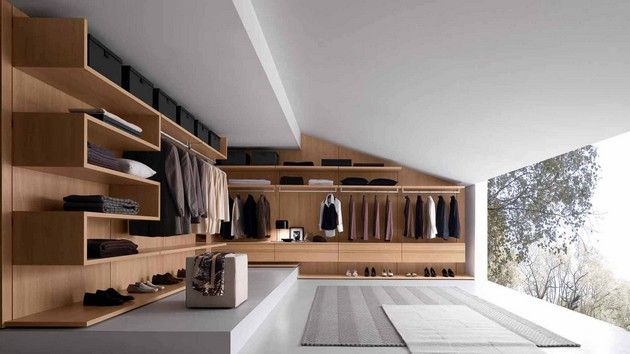 Closet with a big window