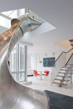 This whimsical staircase alternative is sure to win over the kids in the neighborhood as well as any lingering cocktail party guests