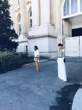 Chloe fashion show Pernille and Aimee Song Street Style