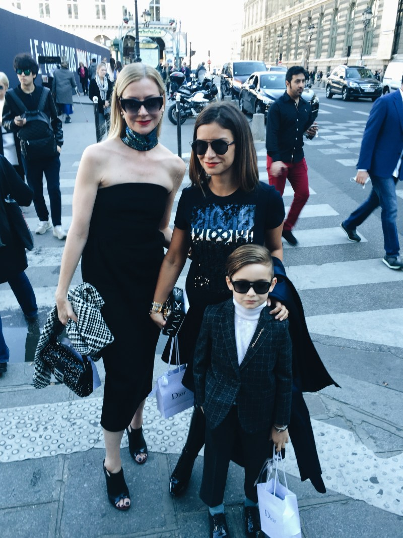Lisa Marie McComb with Luisa Fere and mini street style star Alonso Mateo
