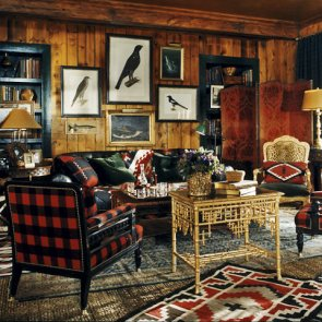 Fantastic rustic cabin gallery wall by Ralph Lauren.