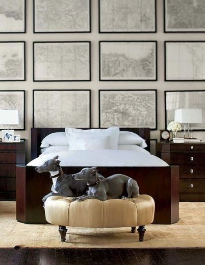 Chic Gallery Wall with Whippets