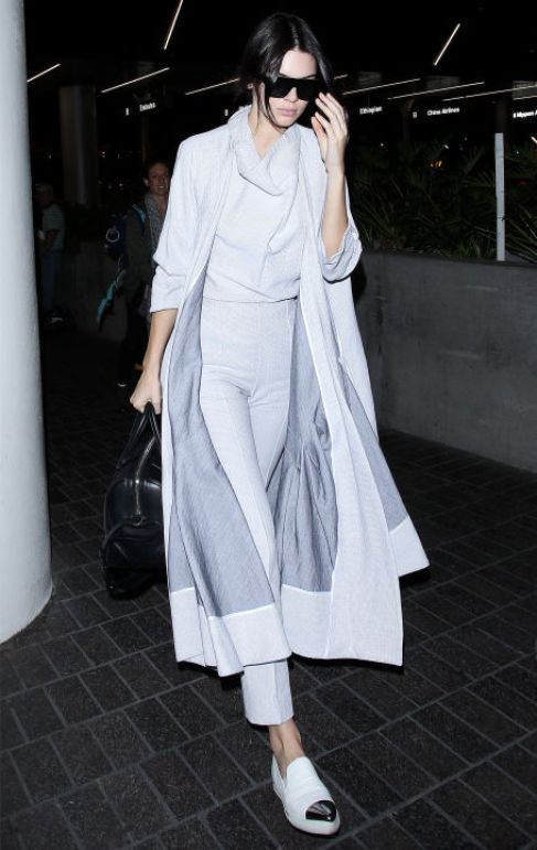 Kendall Jenner Grey Airport Look