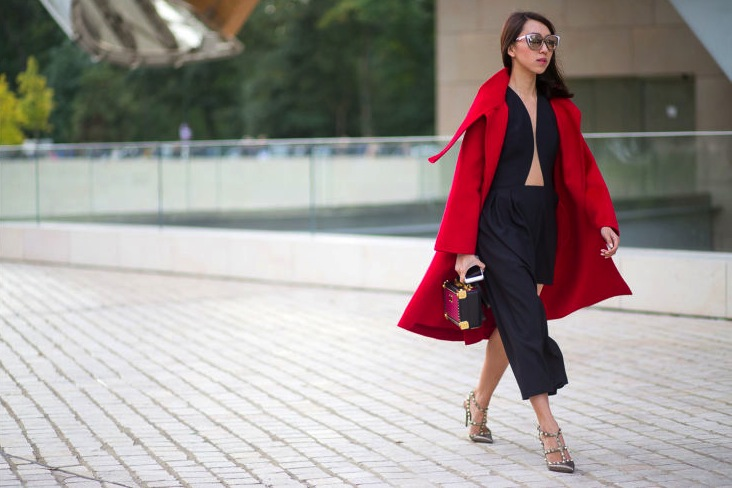 Paris Fashion Week street style, via Harper's Bazaar