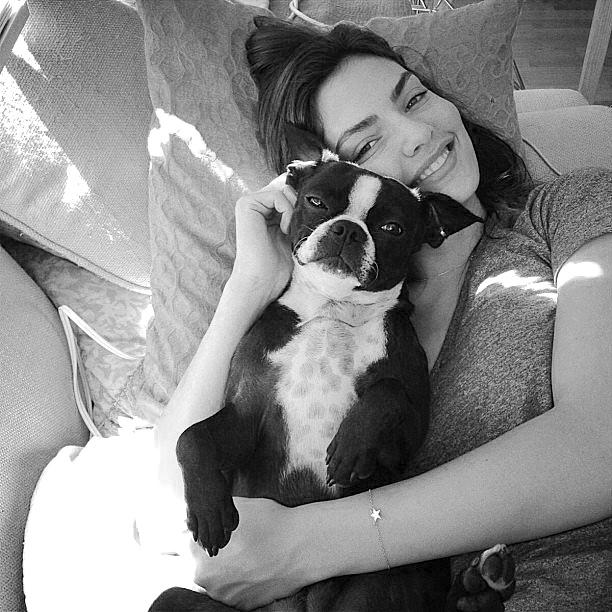 Alyssa Miller with her dog