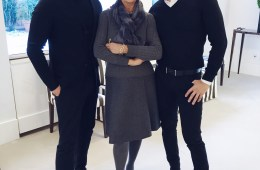 Joe Lupo and Jesse Garza with Carolina Herrera