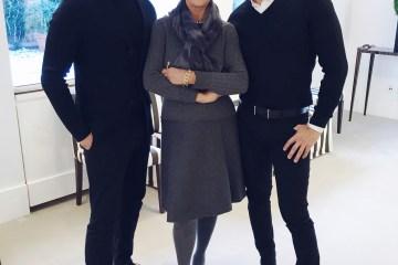 Joe Lupo and Jesse Garza with Carolina Herrera