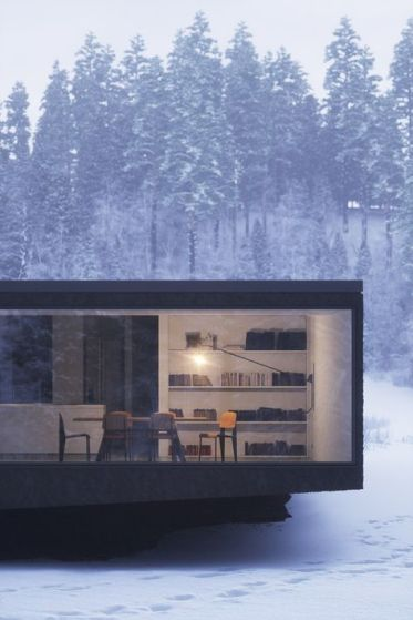 A Philippe Starck minimal black house. This is an ideal example of indoor / outdoor living.
