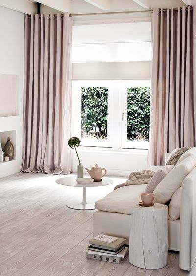 While I am not a fan of the shabby chic movement, this rustic approach in blush and nude would prove to be a fantastically chic bedroom palette.