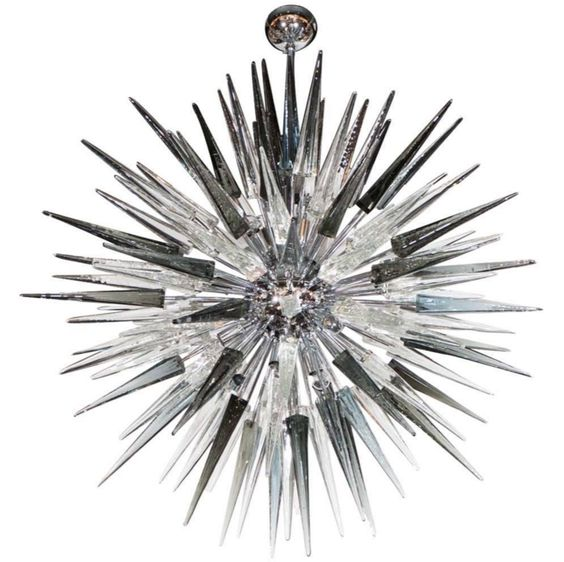 An incredible smoked glass Murano spiked starburst from High Style Deco in New York.
