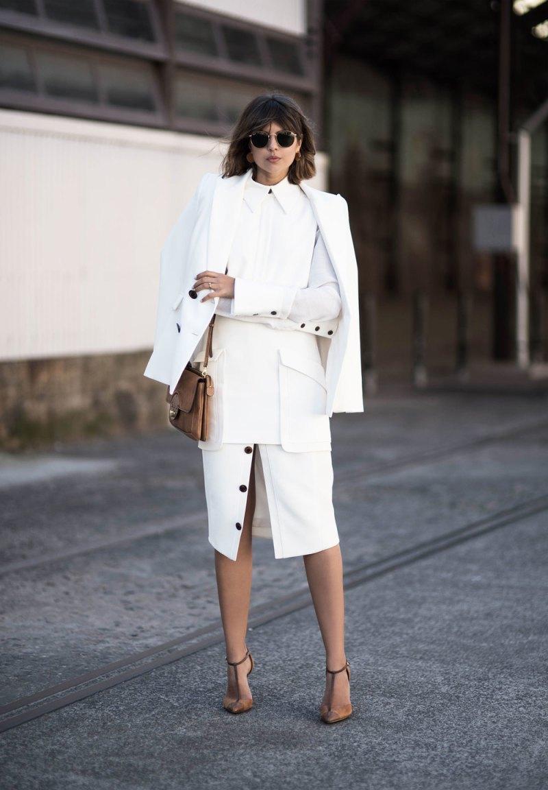 All white street style