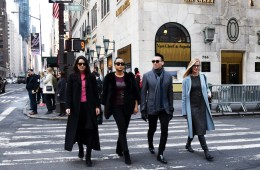 nyc stylists crossing 5th ave