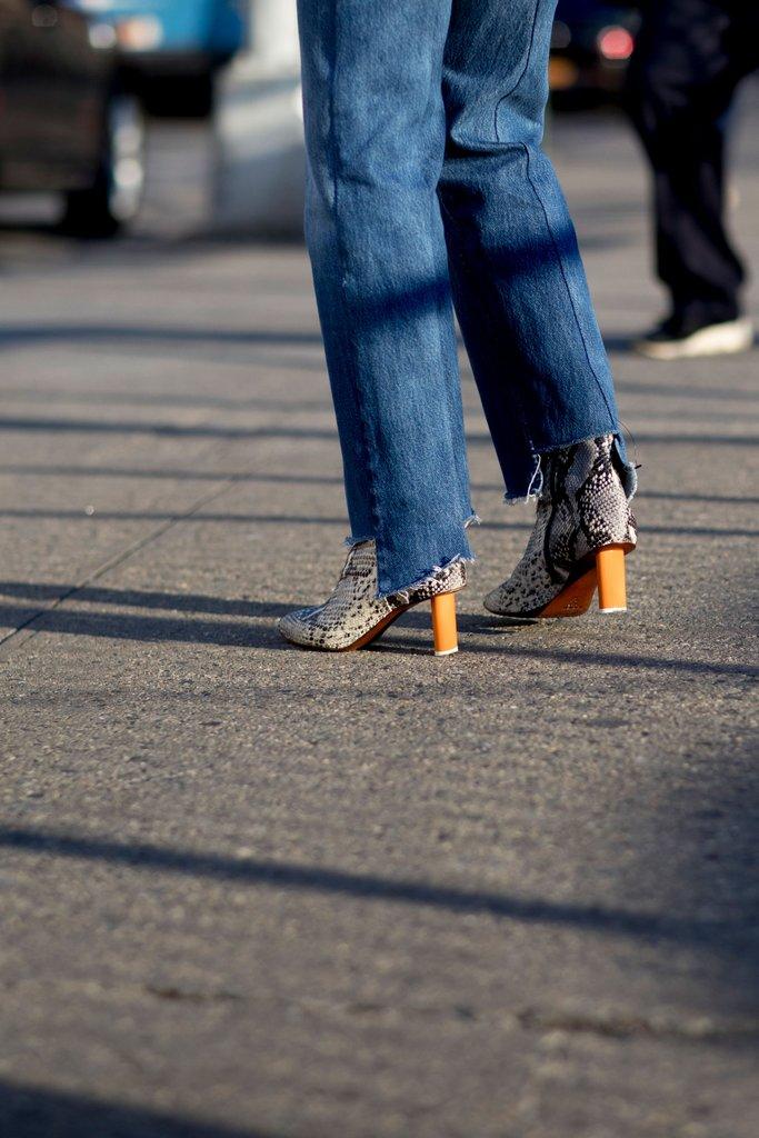 Funky heel trend statement booties spring 2017