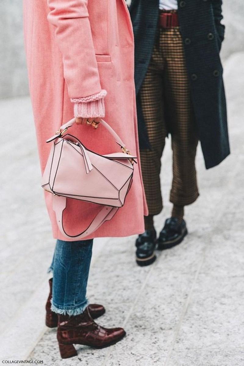 Pink Loewe Bag Street Style