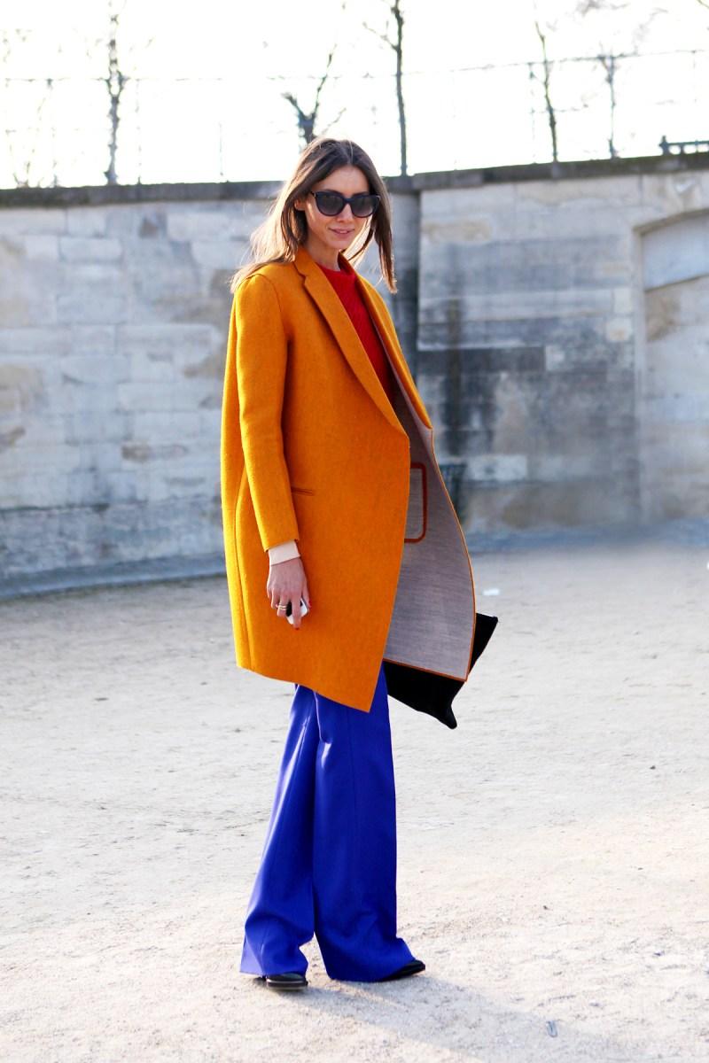 orange street style