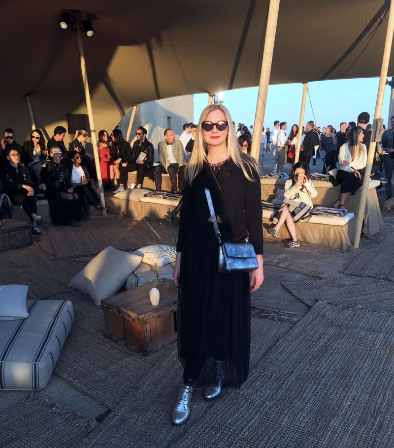 Visual Therapy stylist Lisa Marie Mccomb at the dior 2018 cruise show in los angeles on may 11th