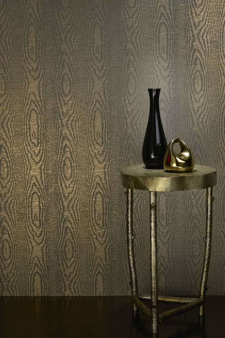 faux bois and this contemporary metallic gold cover by phillip jeffries