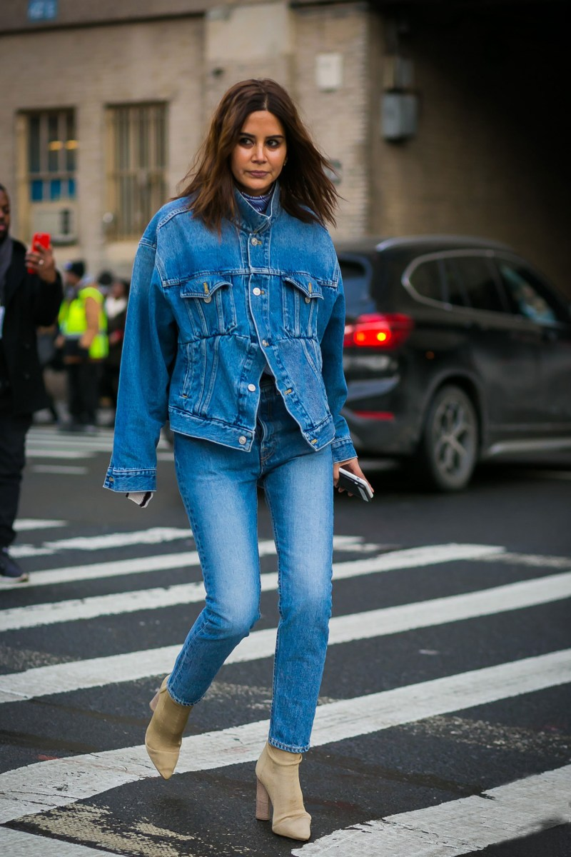 christine centenera in denim on denim fall trend for 2017