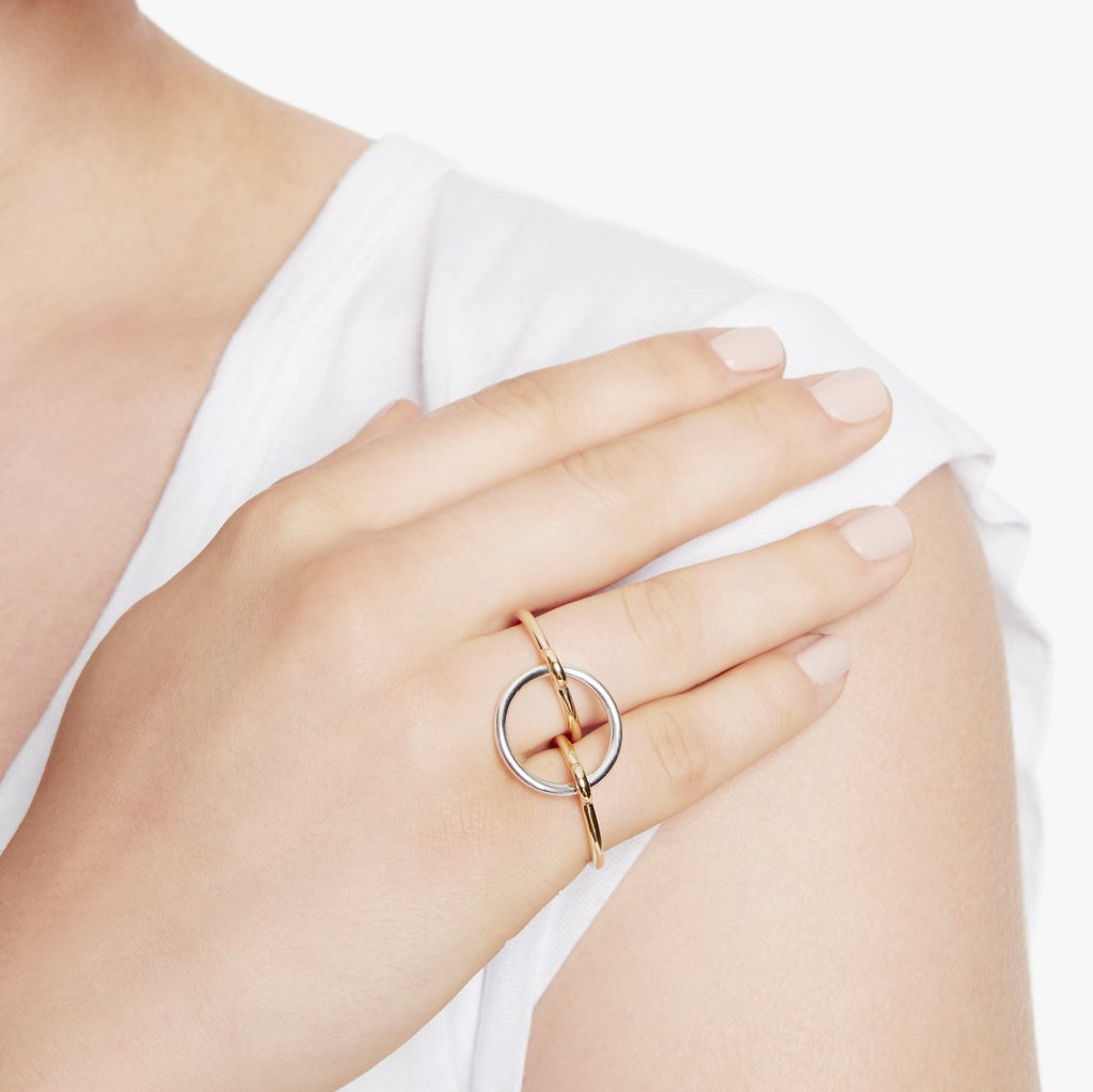 Charlotte Chesnais Three Lovers Ring - Silver/Vermeil S 1cLpdAt